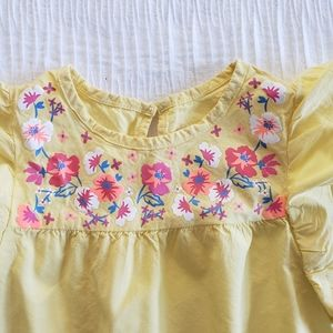 healthtex Matching Sets - Healthex 2Pc Set Yellow Pink Blue Flower Dress Top